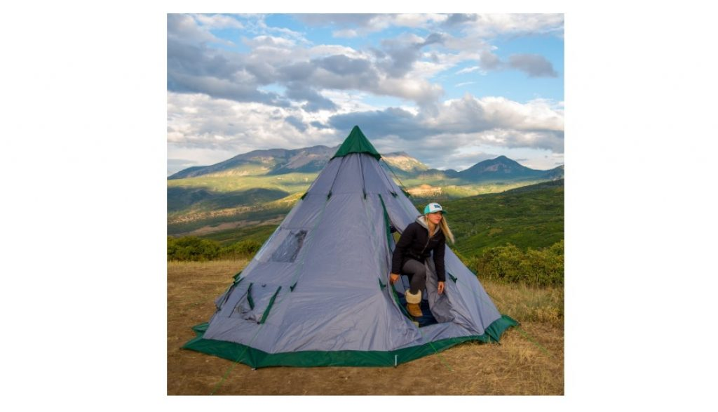 The Winterial teepee tent can accommodate 3 sleeping cots beside gear; with this setup, it can accommodate 3 more people. Sans the cots, like we said, ...