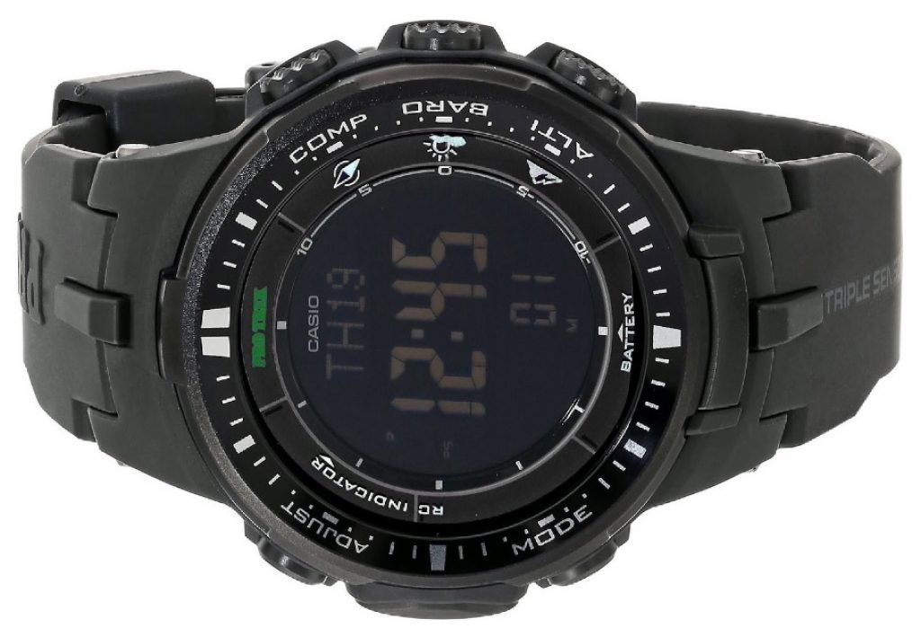 Casio Men's PRW-3000-1ACR Protrek Black Sports Watch