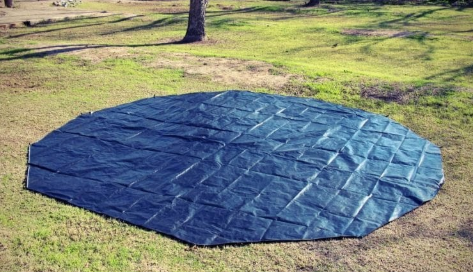 Cutting sheet for tent footprint
