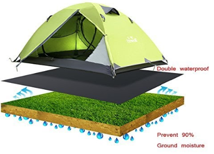 Water proofing by tent footprint