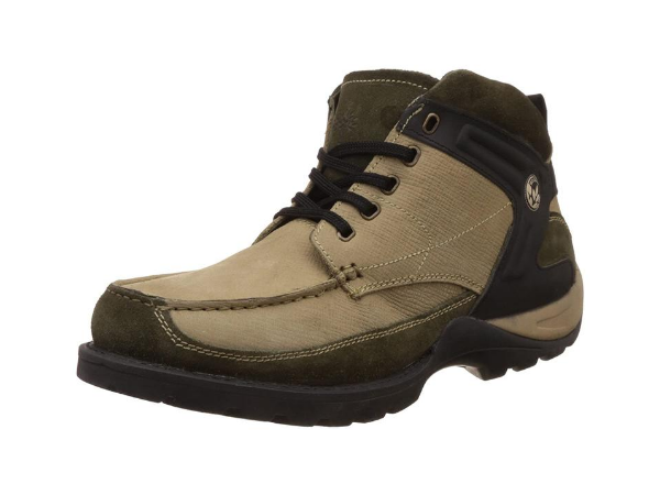 Woodland Men's Leather Trekking and Hiking Boots