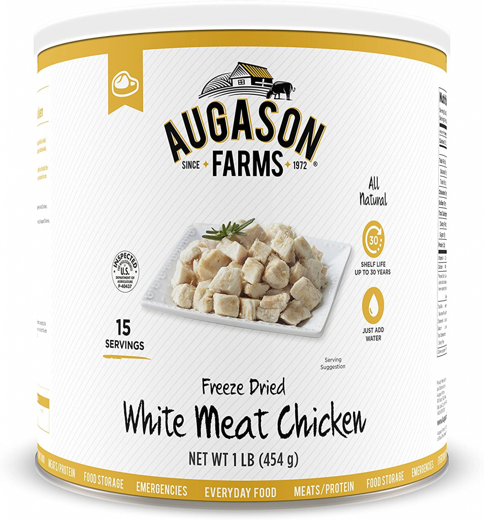 Augason Farms Freeze Dried White Meat Chicken