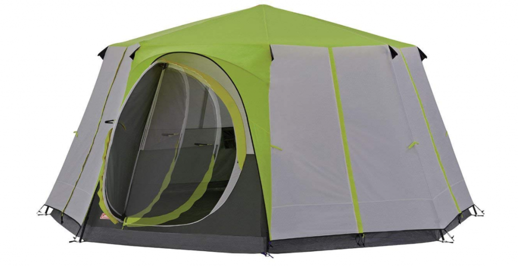 Coleman Cortes Octagon 8 Person Family Tent with Wheeled Carry Bag