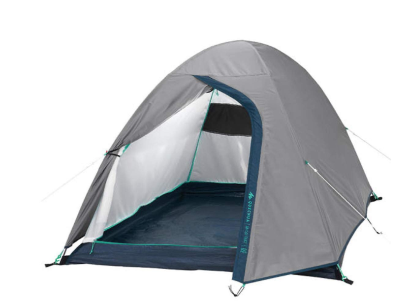Quechua MH100 Polyester and PE Camping Tent 2 People
